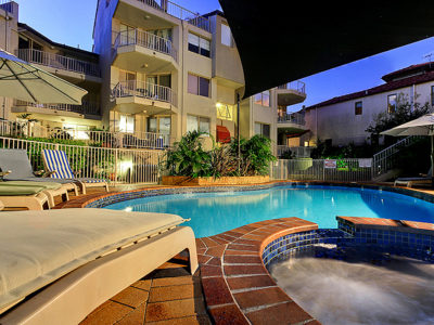 1. Sandcastles-Currumbin-Pool & Spa area at Night