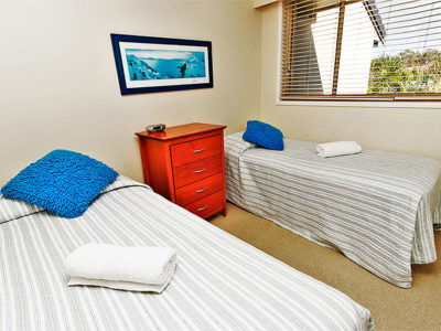 7. Sandcastles-Currumbin-Each Apartment has 2 Single Beds in the 2nd bedroom (1)